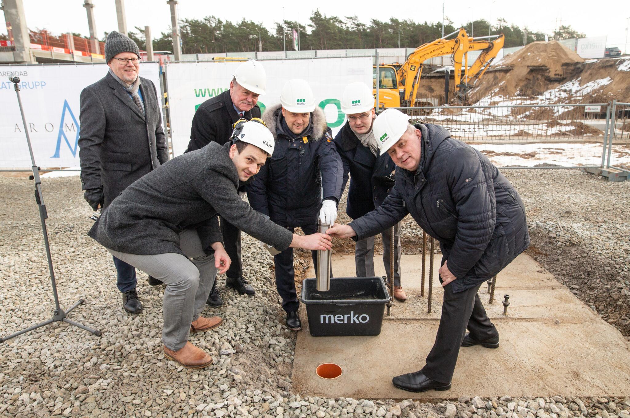 PRESSITEADE: Pärnu maantee kõige uuem ärimaja sai nurgakivi
