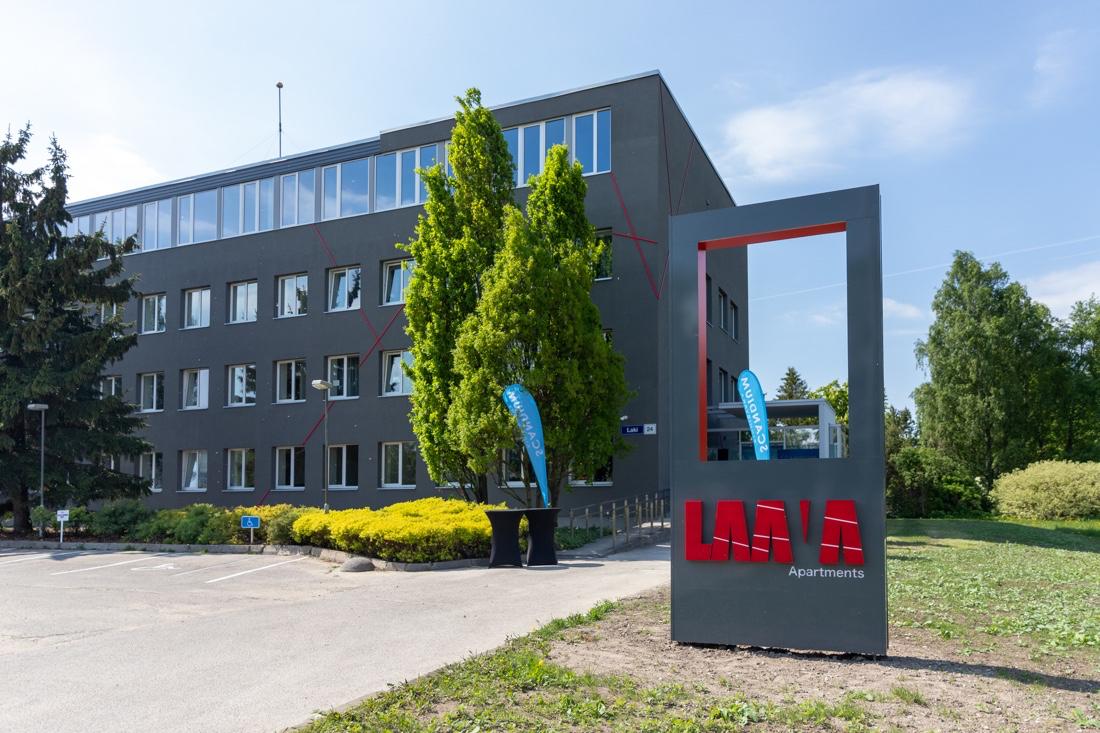 Endisest Eesti Energia peahoonest sai mikrokorteritega üürimaja