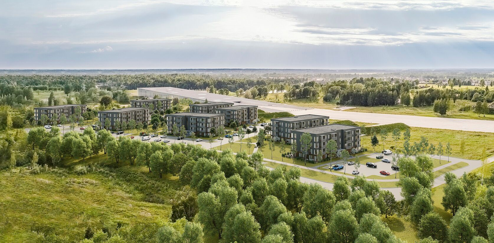 Tartu linn saab juurde 256 korterit / Mapri Ehitus ja NOBE sõlmisid ehituslepingu Raadimõisa Kodu elamurajooni rajamiseks