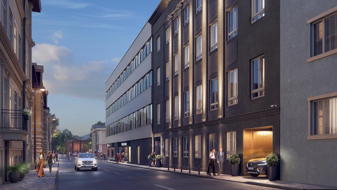 Tartu vanalinna tuleb luksulik loftidega kortermaja Endisest telefonisidesõlmest saab suurlinlik DUO Loftid