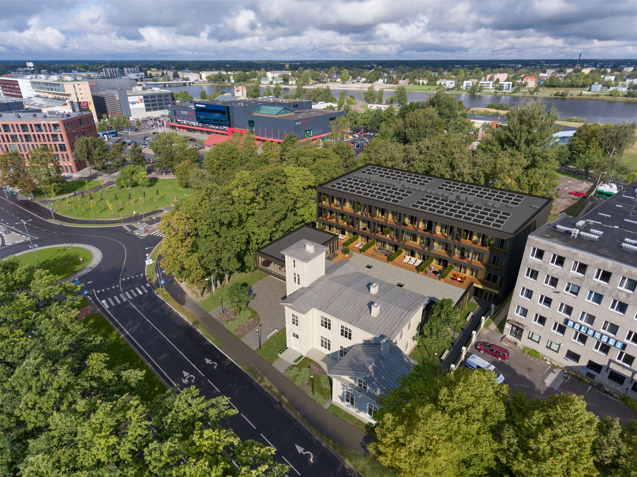 Pärnus sai raudteevalitsuse villa nurgakivi