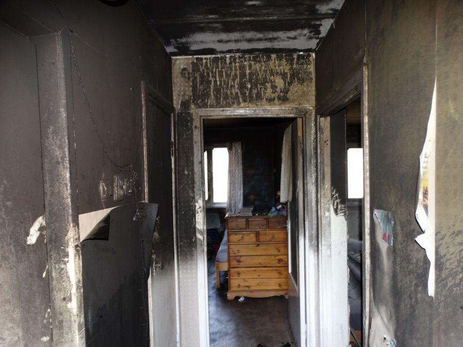 Foto: korter pärast põlengut (allikas: PZU)