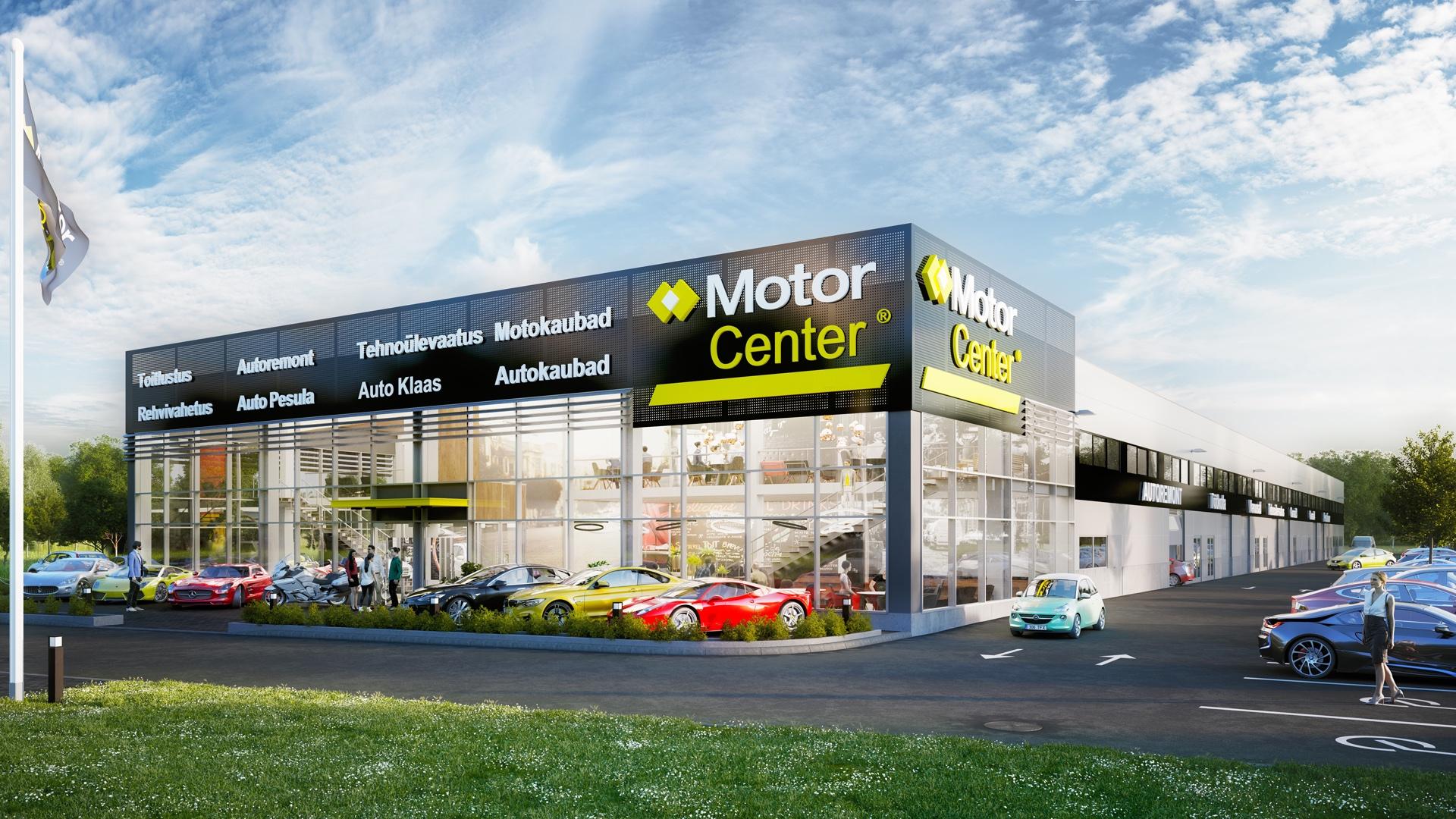 Lasnamäele kerkib autoteenustele ja kaubandusele keskenduv kaasaegne MotorCenter keskus