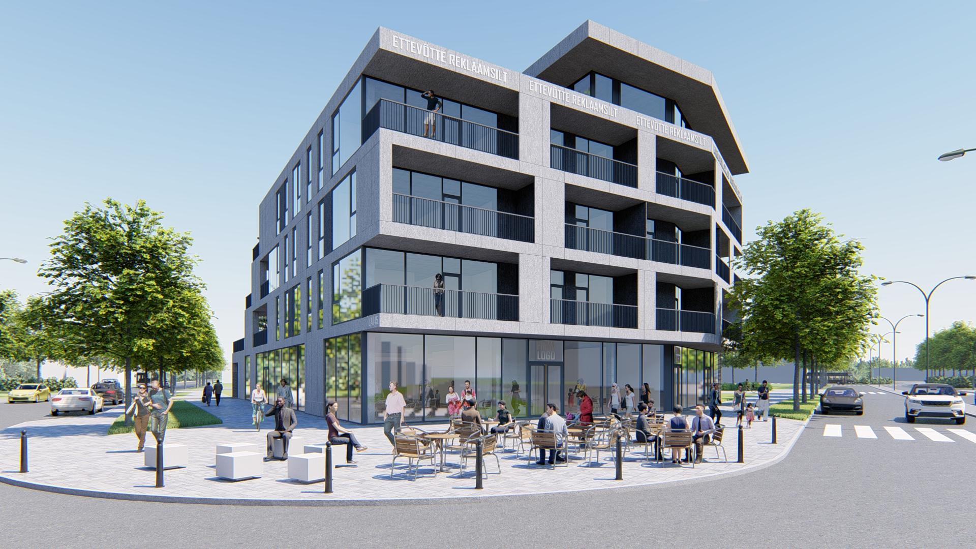Mapri Ehitus ehitab Pärnu kesklinna äri- ja eluhoone