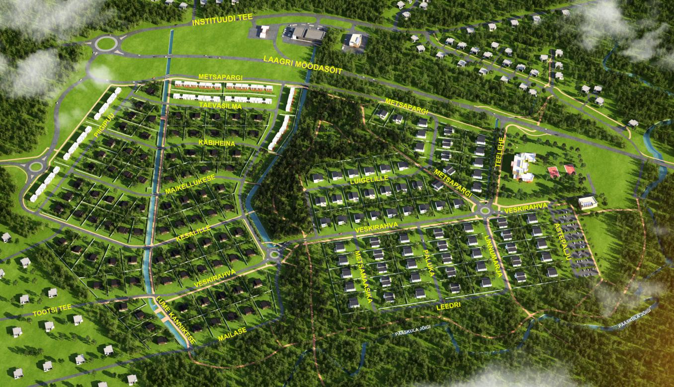 Pressiteade: Nõmme piirile Veskimöldresse rajatakse 250 uut kodu 1000-le elanikule