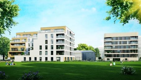 Pressiteade: Kalevi staadioni kõrval algas kahe uue energiasäästliku korterelamu Kalev ja Linda ehitus