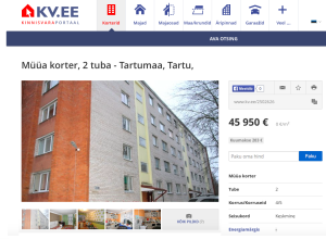 Välisfassaadi pilt ei anna ülevaadet korterist. Puudu ruutmeetri hind.
