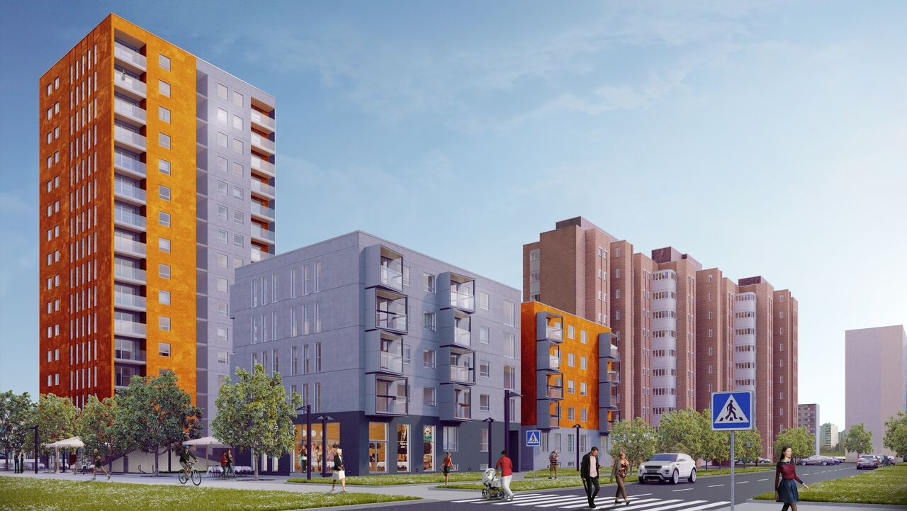 Pressiteade: Lasnamäel ajalugu teinud kortermaja ehitab Nordecon